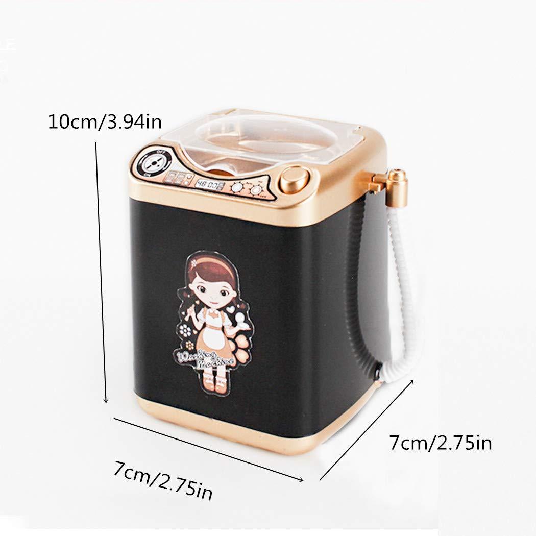 FORLADY Mini aparato para ni/ños Lavadora Juguete Simulaci/ón Limpieza autom/ática Lavadora Maquillaje el/éctrico Cepillo Limpiar
