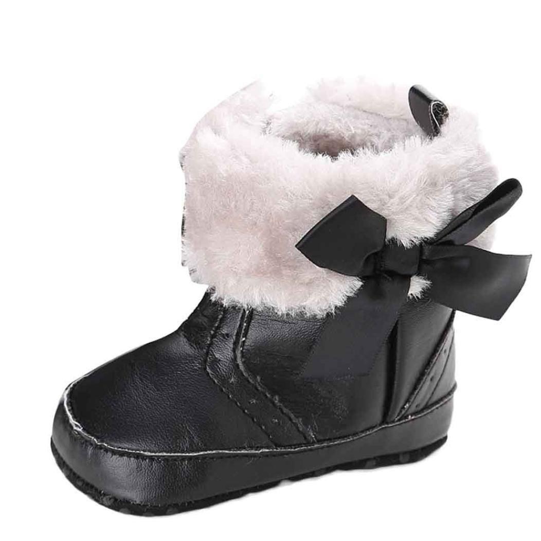 Zapatos Bebé Xinantime Suave Botas de Niño Caliente Invierno Moda Negro