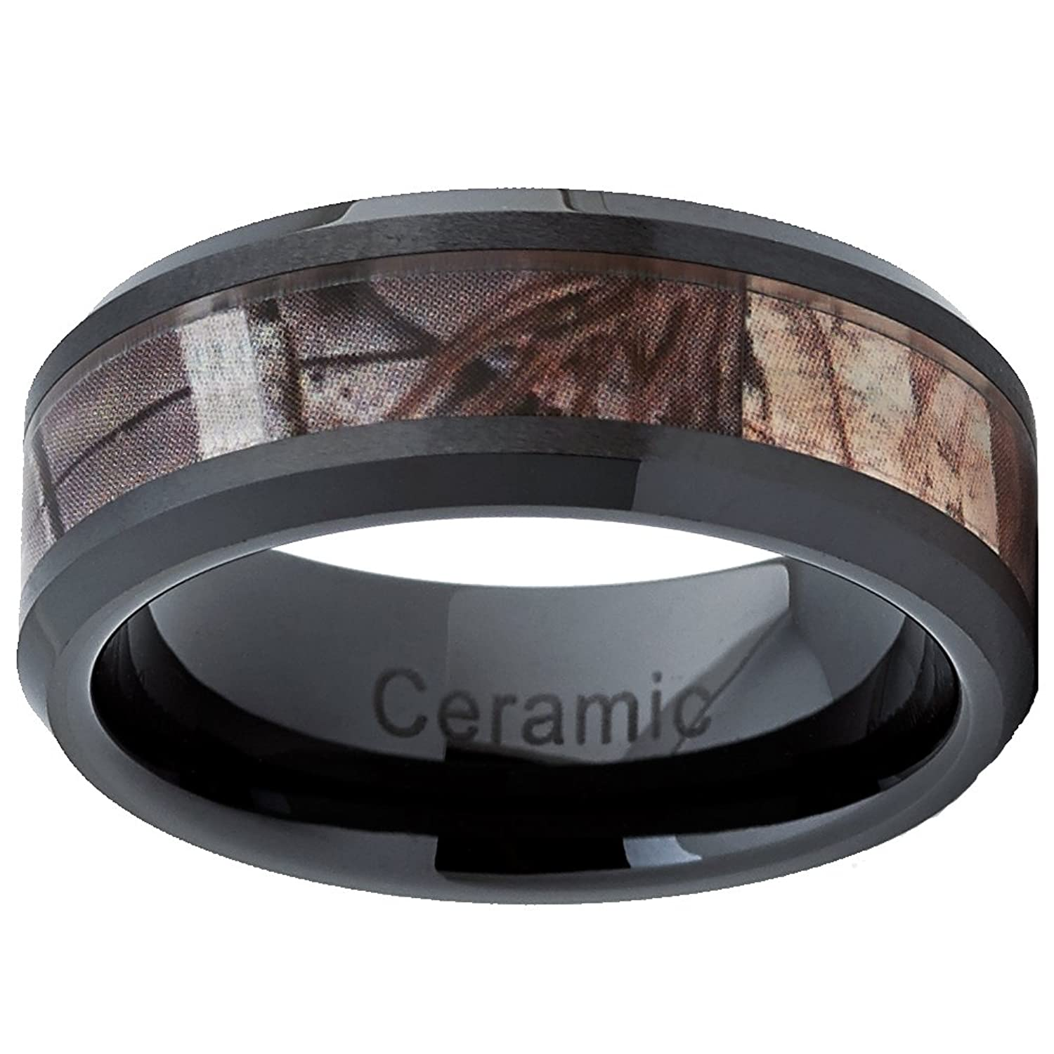 wedding rings ring com ceramic camo pink dp by promise women engagement amazon for black