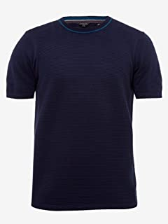 793a6bd49e2c31 Ted Baker TA7M GK01 ZICO Mens Textured Knitted T-Shirt in Navy Blue