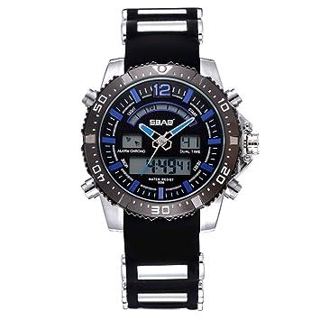 Sbao Hombre Reloj Best Ordenador Luxus podómetro Aventura cuarzo Relojes, hevoiok impermeable Modern unidad Designer LED fácil Sport macho Reloj de pulsera ...