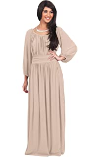 abad1bbaee4 KOH KOH Sleeve Flowy Empire Waist Fall Winter Party Gown at Amazon ...