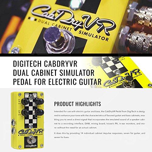 DigiTech CabDryVR 듀얼 캐비닛 시뮬레이터 페달 일렉트릭 기타..