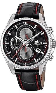 0568ce73caa2 Lotus Watches Reloj Cronógrafo para Hombre de Cuarzo con Correa en Cuero  18527 6