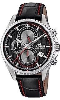 72e33113d5de Lotus Watches Reloj Cronógrafo para Hombre de Cuarzo con Correa en Cuero  18527 6
