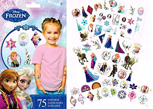 Decade Themed Party Costumes (Disney Frozen Temporary Tattoos)