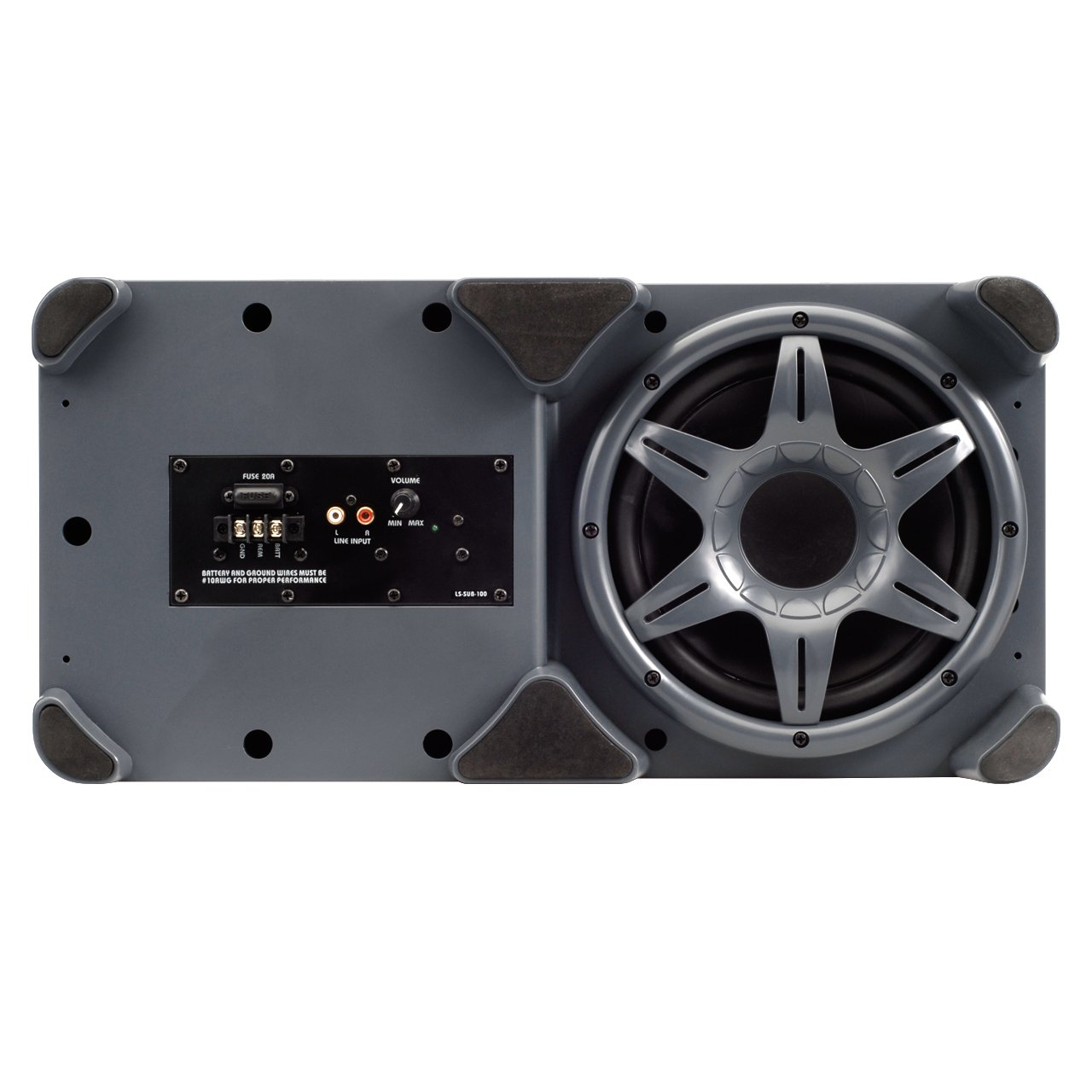 Amazon.com: Linear Series LS-SUB-100 Powered Subwoofer 8 Inch 300 Watts  Tuned Enclosure: Car Electronics
