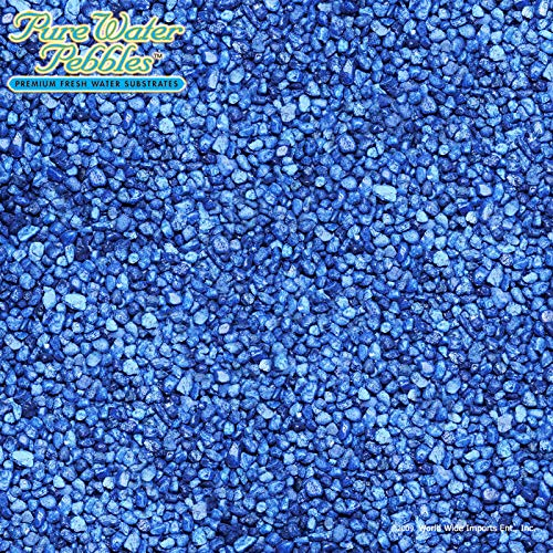 Pure Water Pebbles Nature's Ocean Aquarium Gravel Marine Blue Gravel 5lb Bag