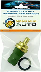 Mean Mug Auto 1214-32019A Engine Coolant Temperature Sensor With O-Ring - Compatible with Audi, Volkswagen - Replaces OEM #: 059919501A