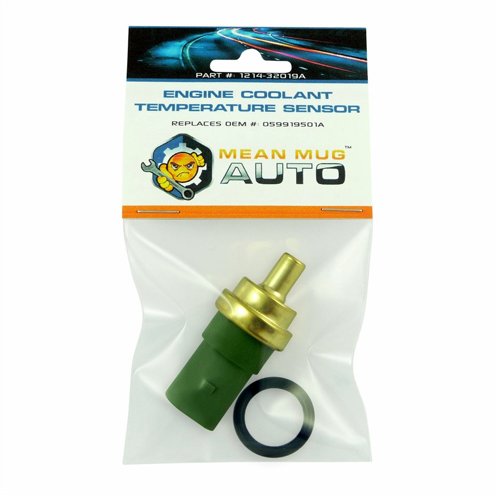 For: Audi Replaces OEM #: 059919501A Mean Mug Auto 1214-32019A Engine Coolant Temperature Sensor With O-Ring Volkswagen