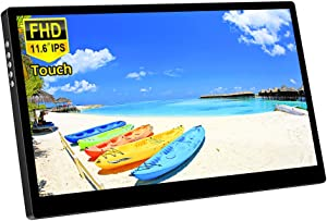 Corkea 11.6 Inch Portable Touchscreen Monitor,1080P IPS Display with USB/HDMI Video Input for Mini PC Laptop,PS3 PS4, Switch Smartphone Raspberry Pi