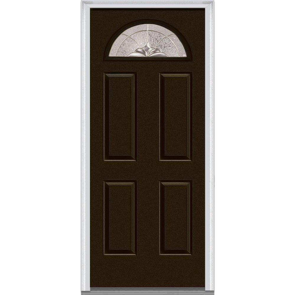 National Door Company Zz04260l Steel Brown Left Hand In Swing Exterior Prehung Door Heirloom Master 1 4 Lite 4 Panel 30 X80 Amazon Com Industrial Scientific