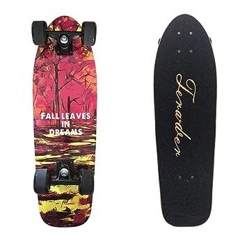 Profesional Street Dance Board monoCurvado de Cuatro Ruedas Cepillo Calle Arce Skate, Surf de Calle Longboard 71 * 21.5 cm: Amazon.es: Deportes y aire libre