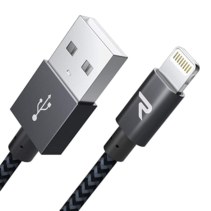 Rampow Cable iPhone Cable Lightning [Apple MFi Certificado] Nylón Duradero Cargador iPhone Compatible con iPhone 11 11 Pro XS MAX XR X 8 7 6S 6 5 5S ...
