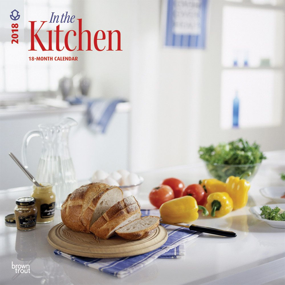 Kitchen - In the Kitchen 2018 12 x 12 Inch Monthly Square Wall Calendar, Home Cooking (Multilingual Edition)
