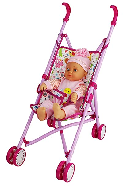 Amazon.com: WG Toys – Muñeca de bebé con carrito con batería ...
