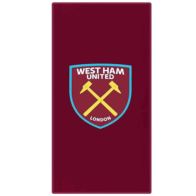 West Ham United Toalla Oficial (100% algodón y 75 cm x 150 cm ...