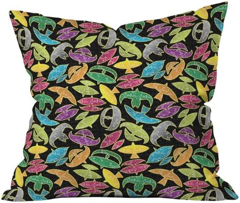 Deny Designs Raven Jumpo Wow Wau Throw Pillow, 26 x 26