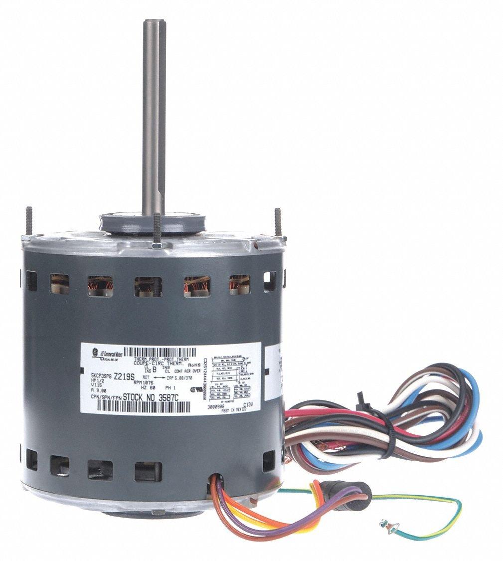 GE 5KCP39PGN665T 1/2hp, 115v, 1075rpm, 3 Speed PSC Furnace Blower Motor Genteq 3587