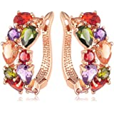 La Vivacita Monalisa Drop Earrings with swarovski crystal 18ct rose gold plated gift for women and girls