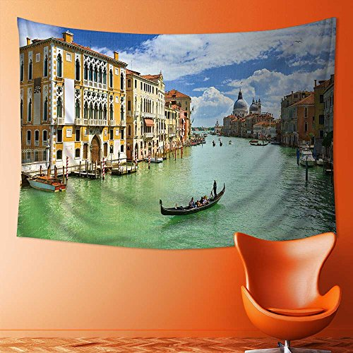 Nalahome Abstract Art Splatter Painting Home Decor, Grand Canal,Venice,Italy Tapestry Wall Hanging Art(80W x 59L (Venice Grand Canal)