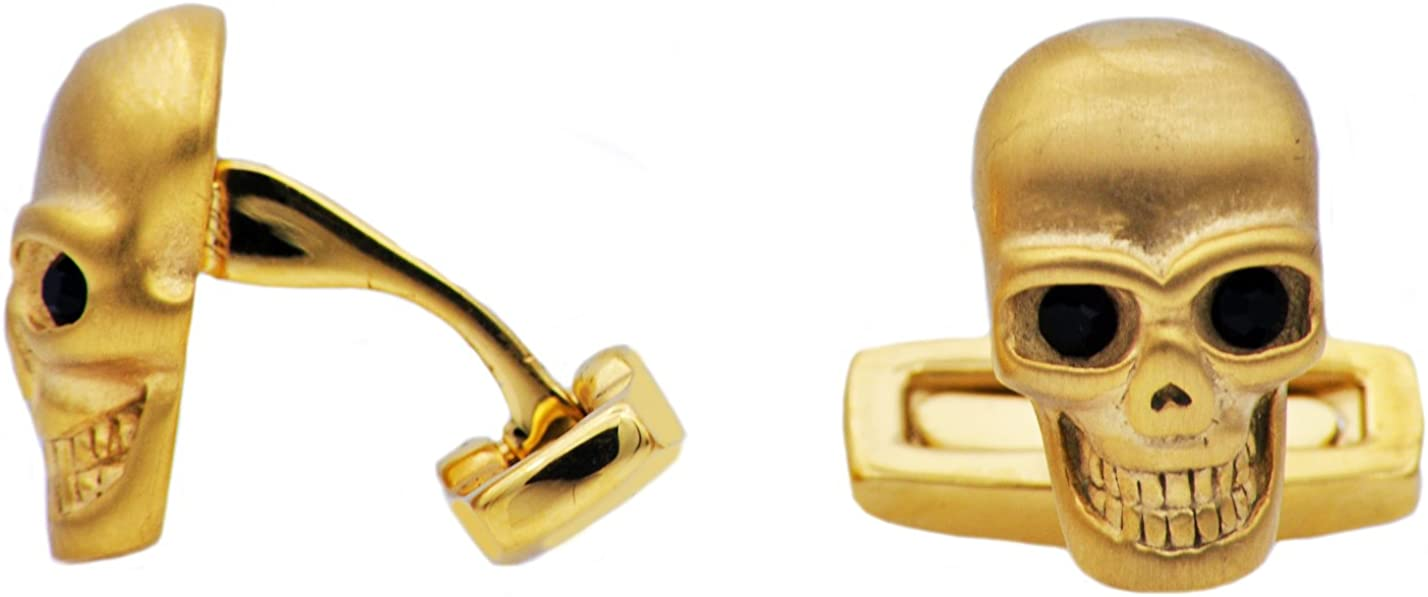 Blackjack Jewelry Mens Stainless Steel Skull Cuff Links