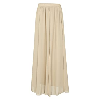 online store 5a48a b5283 Omela Damen Elegant Chiffonrock Lange Boho Rock Maxirock A Linien