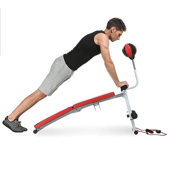 benlet ajustable plegable banco de peso ejercicio entrenamiento Ab banco con bola de velocidad mancuernas y multiusos para gimnasio en casa (US stock): ...