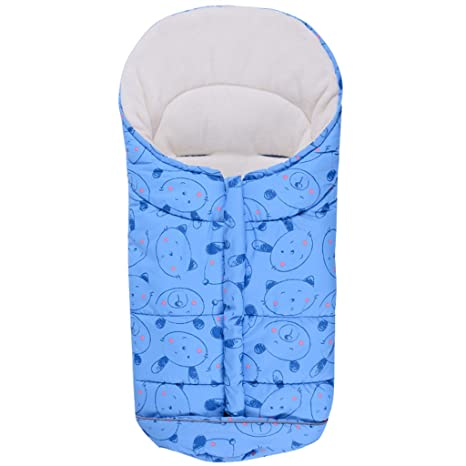 Bebé Saco de Dormir 3 Tog, Mantas Envolventes Invierno para Cochecito 0-6 Meses