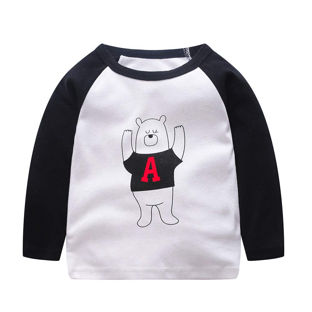 Hot Infant Baby Boys Girls Pullover Splice/Hooded Long Sleeves Top Cartoon Winter Cotton Outfits Casual Clothes