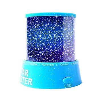 Aeeque Romantisch Blau Sternenhimmel Mini Stern Projektor Mit