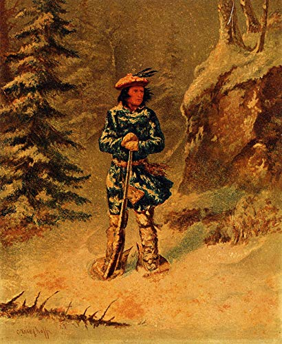 - Cornelius Krieghoff in Doubt of Track,Iroquois Indian 1868 McCord Museum 30