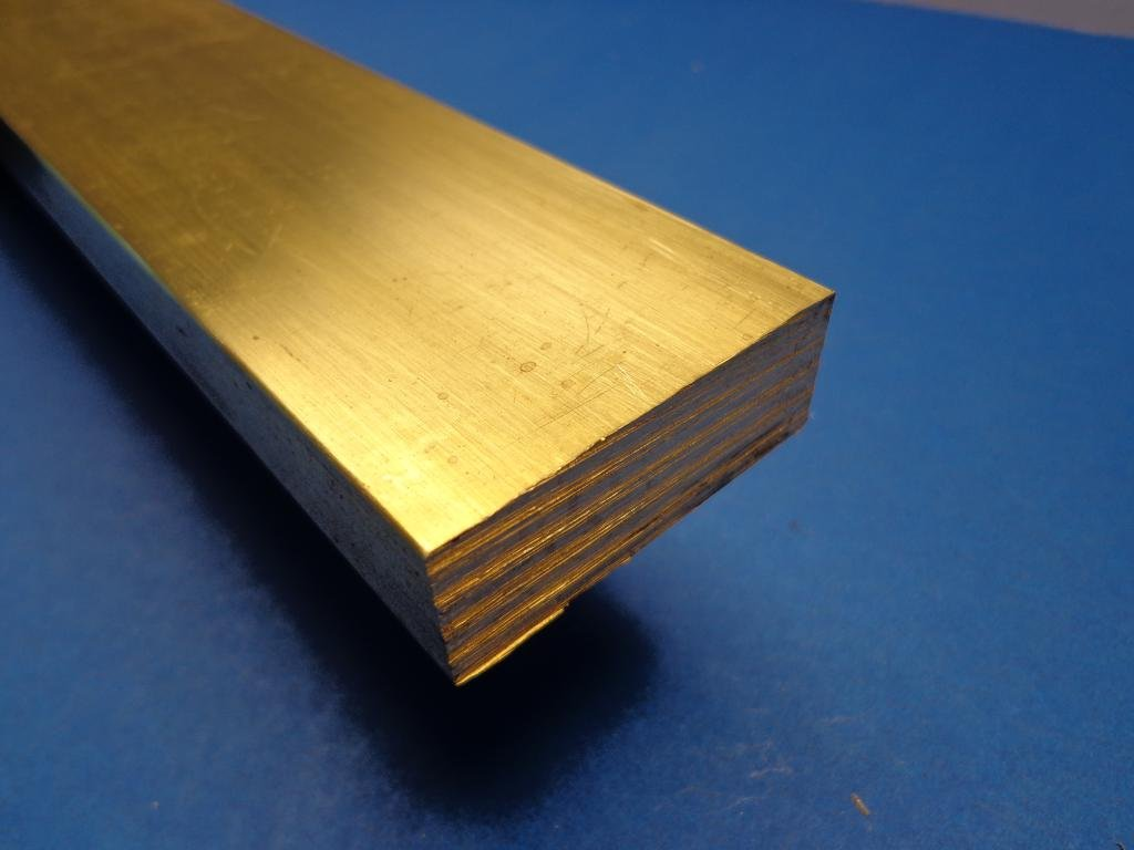 Industrial Metal Sales - 360 1/2 Hard Brass Flat Bar 1/2'' x 2'' x 36''-Long by 360 Brass