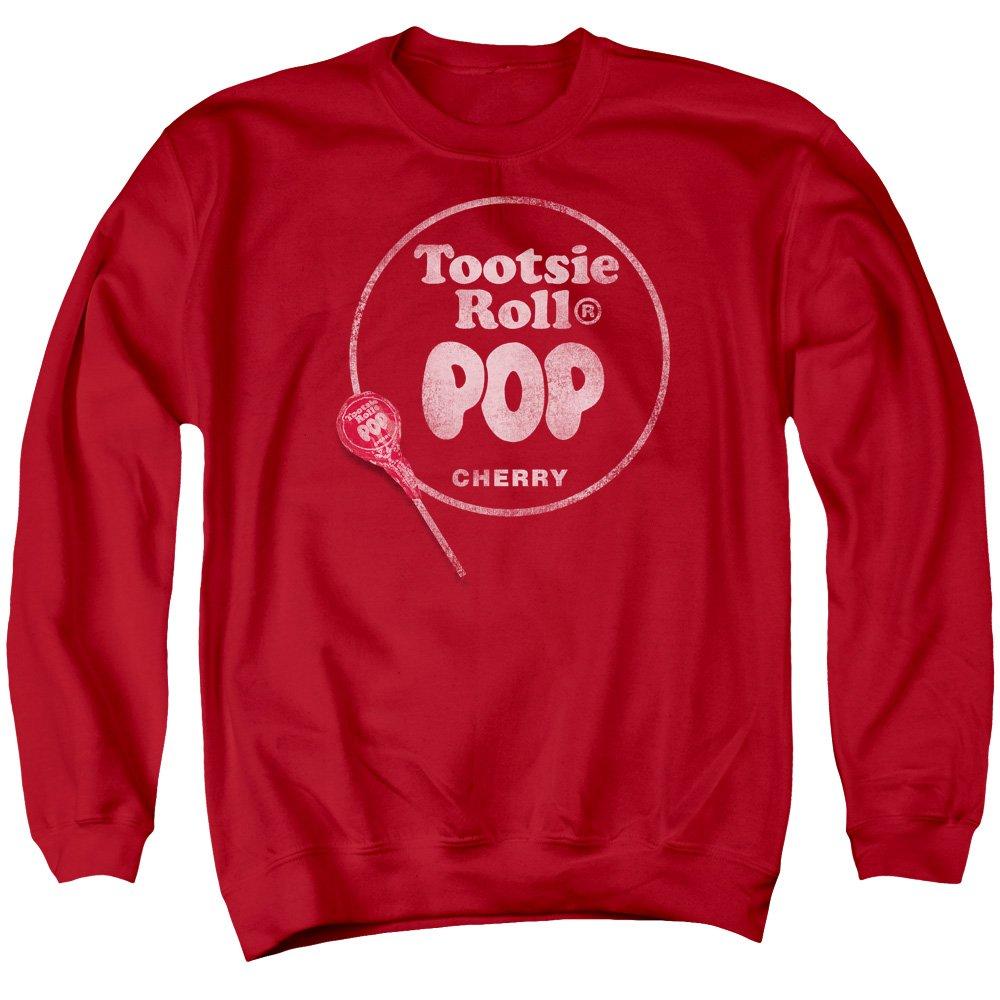 2Bhip Tootsie Roll Chocolate Candy Tootsie Roll Pop Logo Adult Crewneck Sweatshirt Trevco