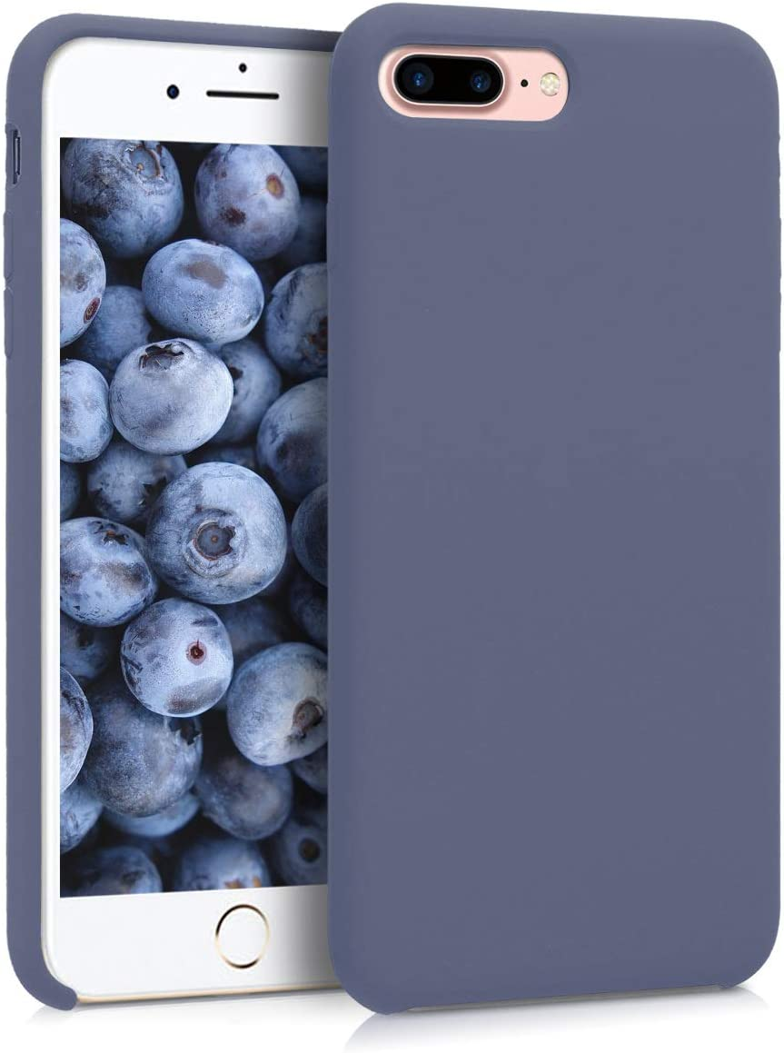 kwmobile TPU Silicone Case Compatible with Apple iPhone 7 Plus / 8 Plus - Soft Flexible Rubber Protective Cover - Lavender Grey