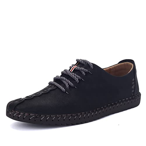 gracosy Men's Oxfords Casual Shoes, Mens Leather Loafers Men's Leather  Oxford Classic Shoe Mens Handmade