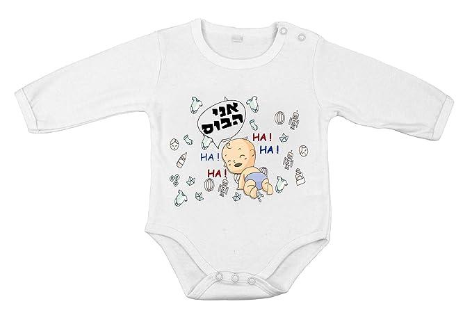 Body-soul-n-spirit Body manga larga de algodón para bebé recién nacido pelele Soy el jefe divertido: Amazon.es: Ropa y accesorios