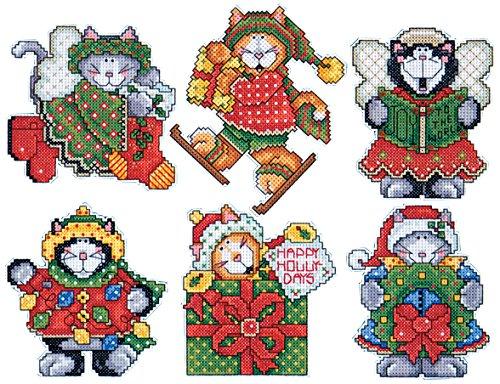 Kitten Ornaments Design Works Crafts 4 Each Cross Stitch Kit