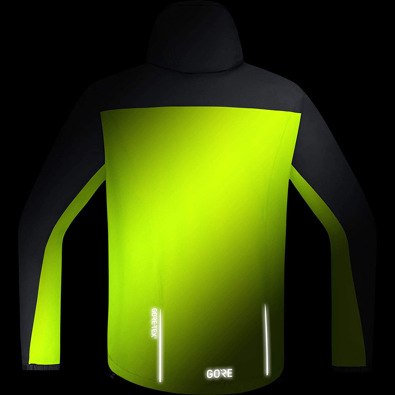 Neon Yellow XL GORE Wear C3 Mens Hooded Jacket GORE-TEX