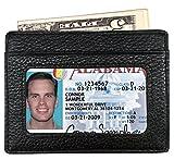 RFID Wallet Mens Leather RFID Blocking Front Pocket Wallet Slim Card Holder Case