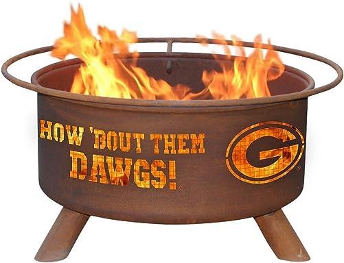 Georgia Bulldogs UGA Portable Steel Fire Pit Grill