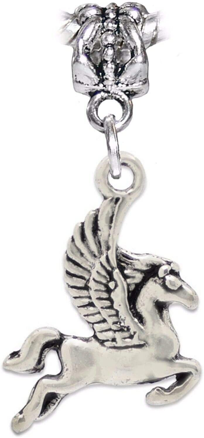 Pegasus Flying Horse Dangle Charm Bead for European Bracelet or Pendant