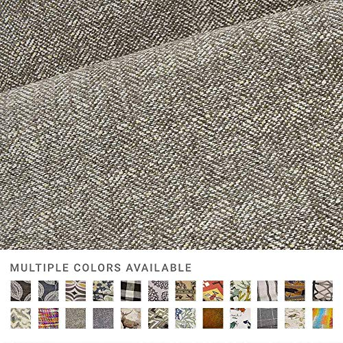 eLuxurySupply Fabric by The Yard - Polyester Blend Upholstery Sewing Fabrics - Kais Fossil Pattern