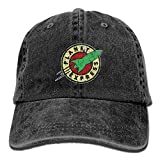 XianNonG Planet Express Men's Black Adjustable Vintage Washed Denim Baseball Cap Dad Hat Trucker Cap