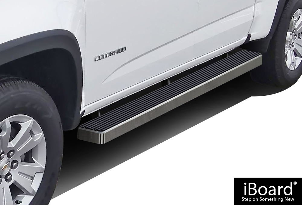 APS iBoard Running Boards 5' Custom Fit 2015-2018 Chevy Colorado/GMC Canyon Crew Cab Pickup 4-Door (Nerf Bars   Side Steps   Side Bars)