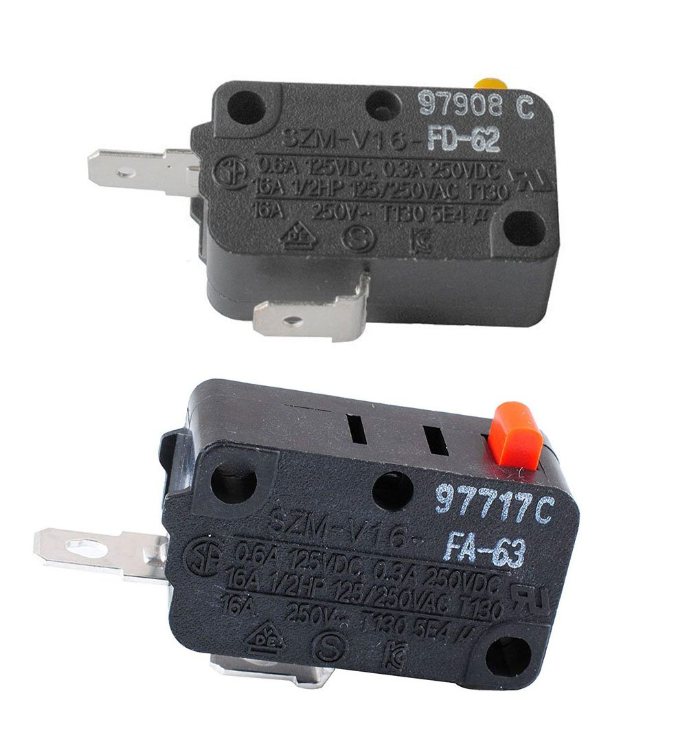 Podoy SZM-V16-FA63 Microwave Oven Door Micro Switch with SZM-V16-FD-62 Normally Open for LG,GE,Starion GE Microwave WB24X0800.