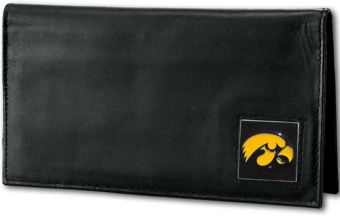 NCAA Iowa Hawkeyes Deluxe Leather Checkbook Cover