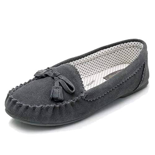 ecca69e502553 Real Fancy Moccasin Slippers for Women Flat Casual Comfortable Loafer Shoes  Womens Moccasin Slippers Spring Moccasins Shoes