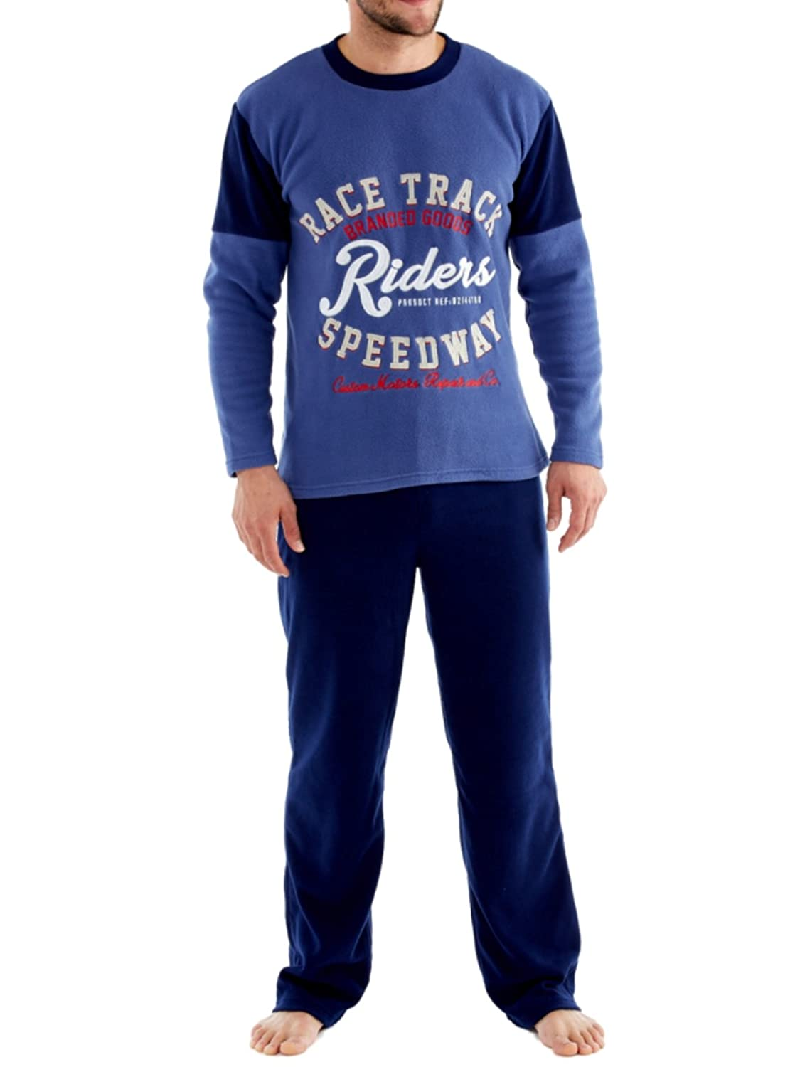 Men's Harvey James Warm Polar Fleece Pyjama Sets, Thermal Loungewear SaneShoppe