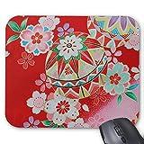 Zazzle Japanese Kimono Textile, Floral Pattern Mouse Pad
